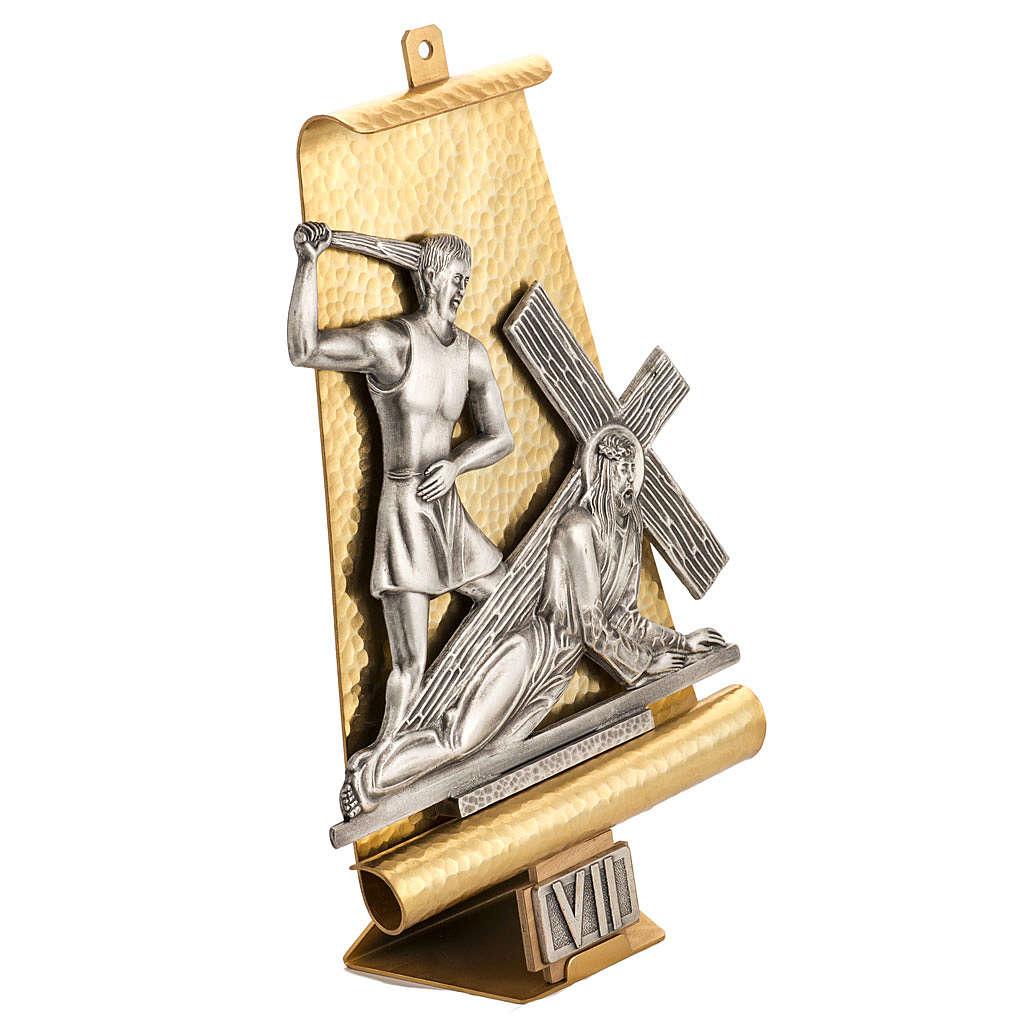 Via Crucis 15 stazione bronzo martellato 4