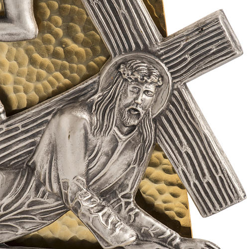 Stations of the Cross in hammered bronze, 15 stations 2