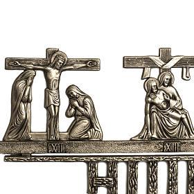 Vía Crucis latón 2 piezas 14 estaciones s5