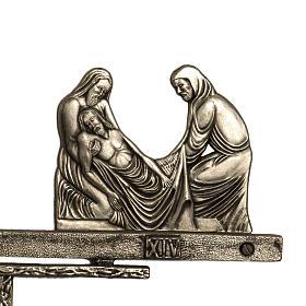 Vía Crucis latón 2 piezas 14 estaciones s6