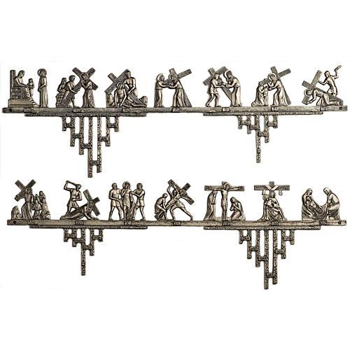 Vía Crucis latón 2 piezas 14 estaciones 1