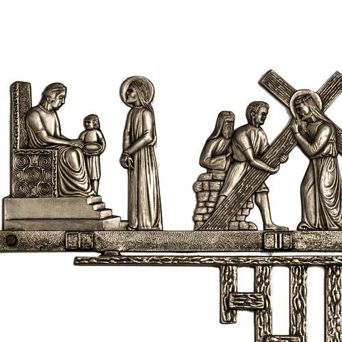 Vía Crucis latón 2 piezas 14 estaciones 2