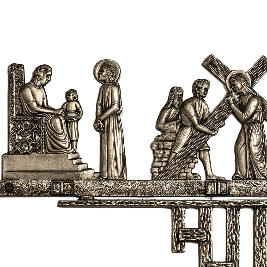 Via Crucis ottone 2 pezzi 14 stazioni 4