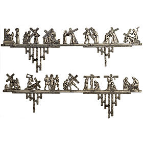 Way of the Cross in brass 2 pieces, 14 stations s1