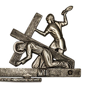 Way of the Cross in brass 2 pieces, 14 stations s4