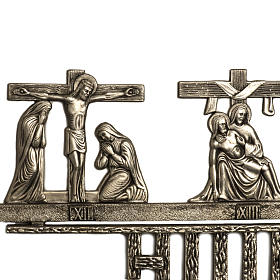 Way of the Cross in brass 2 pieces, 14 stations s5