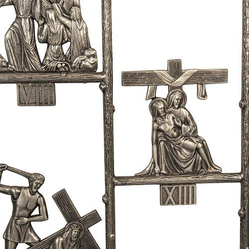 Vía Crucis única pieza 14 estaciones 5