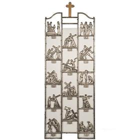 Via Crucis ottone unico pezzo 14 stazioni s1