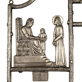 Via Crucis ottone unico pezzo 14 stazioni s2