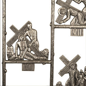 Via Crucis ottone unico pezzo 14 stazioni s4