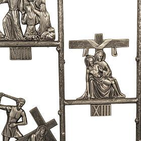 Via Crucis ottone unico pezzo 14 stazioni s5