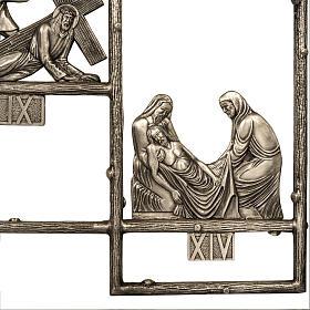 Via Crucis ottone unico pezzo 14 stazioni s6