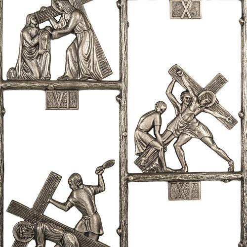 Via Crucis ottone unico pezzo 14 stazioni 3