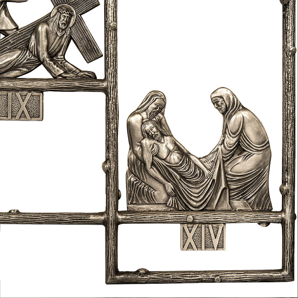 Way of the Sorrows in brass, 14 stations 4