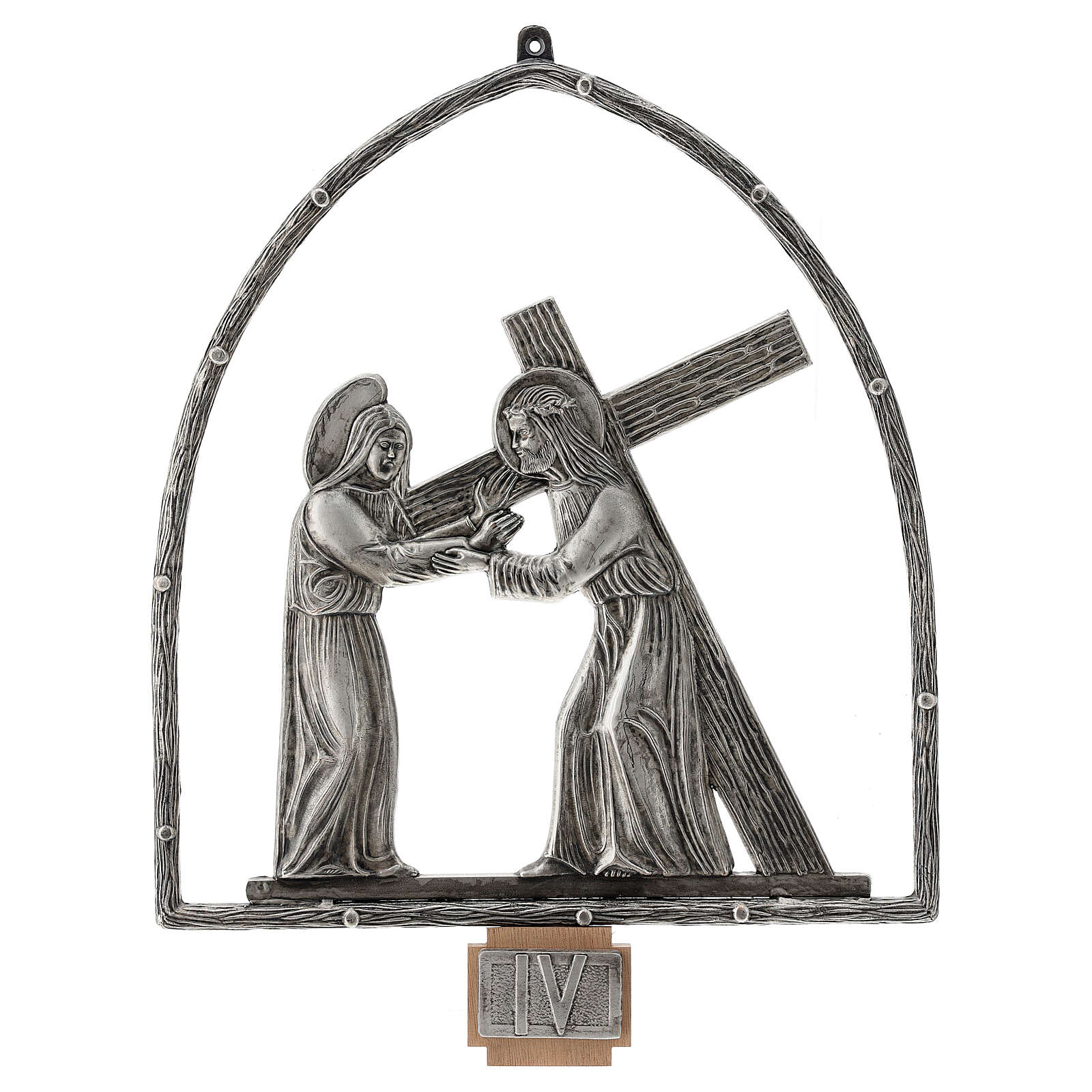 15 Stations of the Cross in silver plated bronze 4