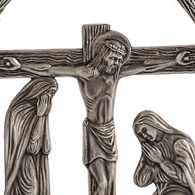 15 Stations of the Cross in silver plated bronze s2