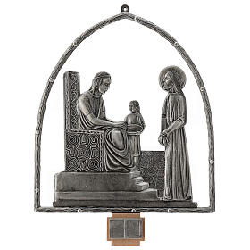15 Stations of the Cross in silver plated bronze s1