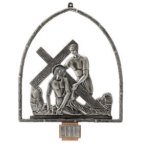 15 Stations of the Cross in silver plated bronze s3