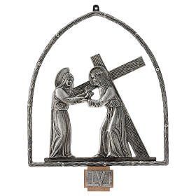 15 Stations of the Cross in silver plated bronze s4