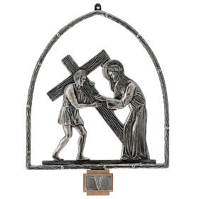 15 Stations of the Cross in silver plated bronze s6