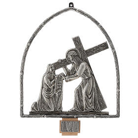 15 Stations of the Cross in silver plated bronze s7
