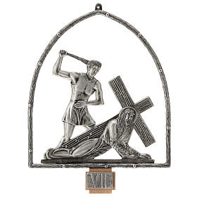 15 Stations of the Cross in silver plated bronze s8