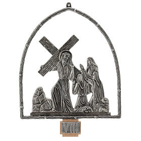15 Stations of the Cross in silver plated bronze s9