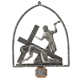15 Stations of the Cross in silver plated bronze s10