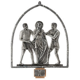 15 Stations of the Cross in silver plated bronze s11