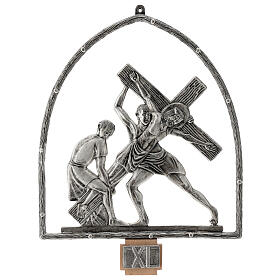 15 Stations of the Cross in silver plated bronze s12
