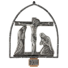 15 Stations of the Cross in silver plated bronze s13