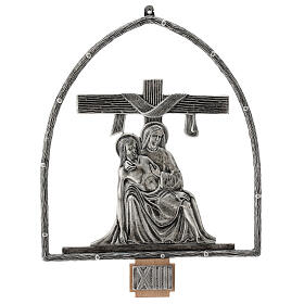 15 Stations of the Cross in silver plated bronze s14