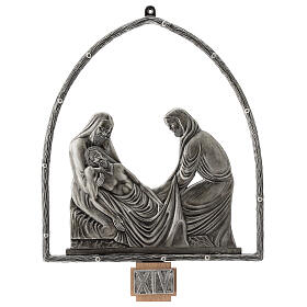 15 Stations of the Cross in silver plated bronze s15