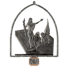 15 Stations of the Cross in silver plated bronze s16