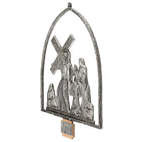 15 Stations of the Cross in silver plated bronze s17
