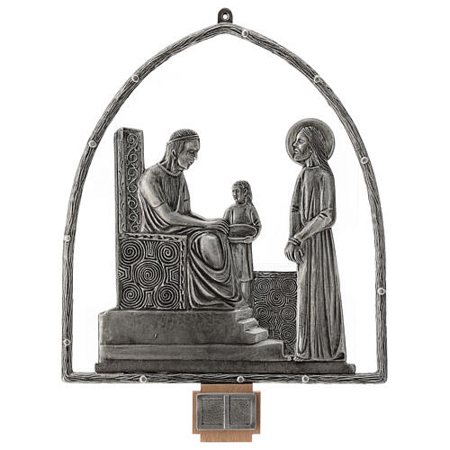 15 Stations of the Cross in silver plated bronze 1