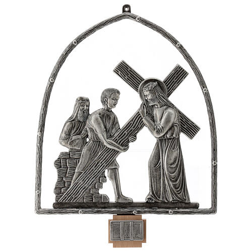 15 Stations of the Cross in silver plated bronze 2