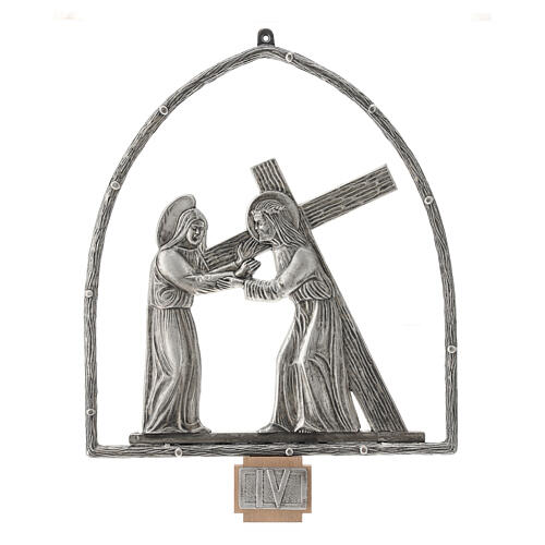 15 Stations of the Cross in silver plated bronze 5