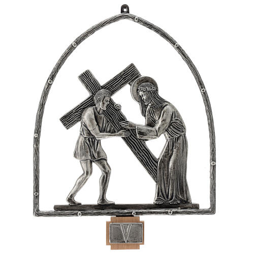 15 Stations of the Cross in silver plated bronze 6