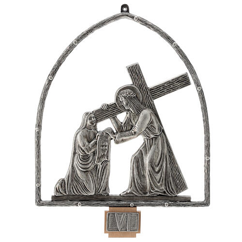 15 Stations of the Cross in silver plated bronze 7