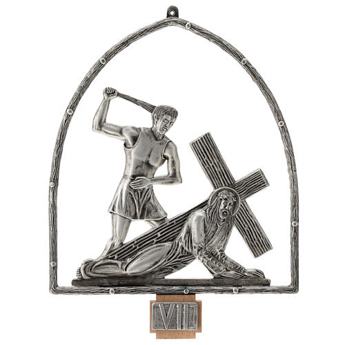 15 Stations of the Cross in silver plated bronze 8