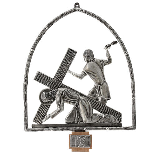 15 Stations of the Cross in silver plated bronze 10