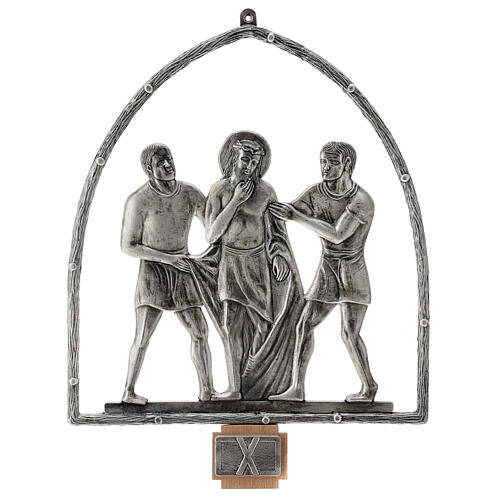 15 Stations of the Cross in silver plated bronze 11