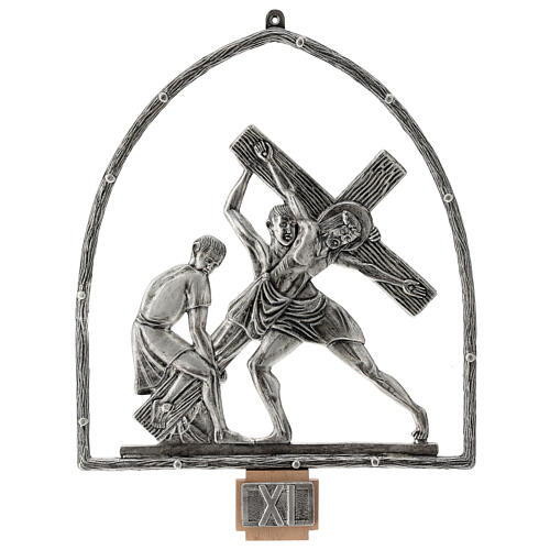 15 Stations of the Cross in silver plated bronze 12