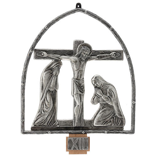 15 Stations of the Cross in silver plated bronze 13