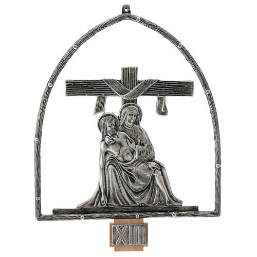 15 Stations of the Cross in silver plated bronze 14