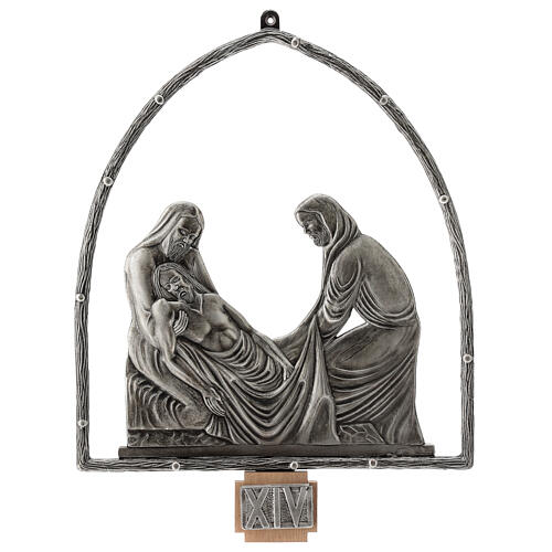 15 Stations of the Cross in silver plated bronze 15