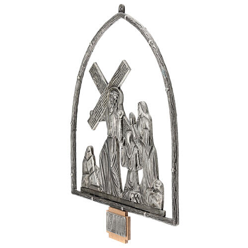 15 Stations of the Cross in silver plated bronze 17
