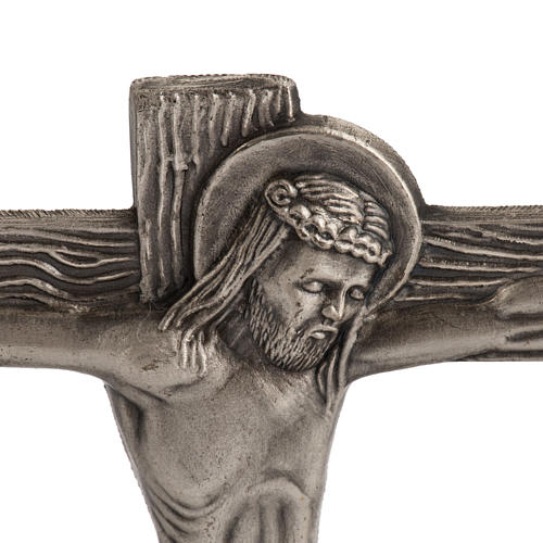 Stylized way of the cross in silver plated bronze, 15 stations 4