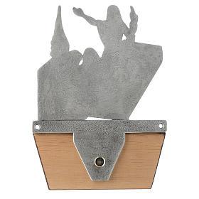 Via Crucis 15 stazioni in bronzo argentato base legno s17